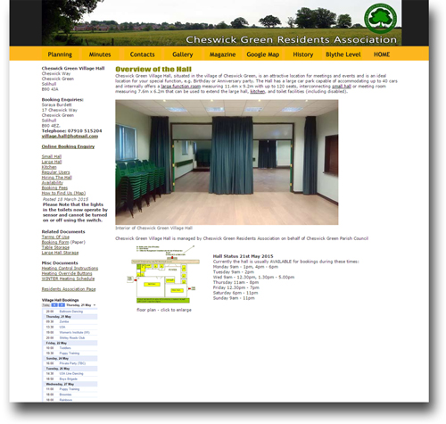 Village Hall website